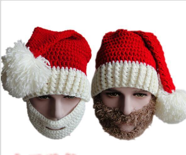 Christmas Scarves Hats Adult Warm Full Beard Beanie Mustache Mask Face Warmer Knit Ski Wool Hat Winter Cap for Women Kids Winter Hat