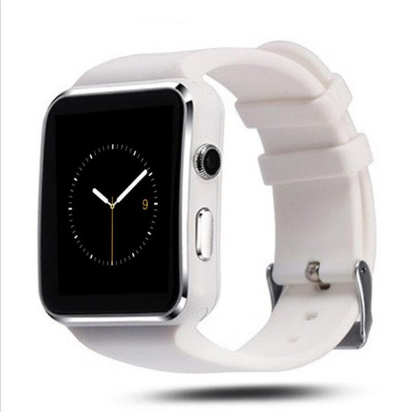 X6 bluetooth smart watch kavisli ekran smartwatches destek kamera sim kart tf kart yuvası android akıllı telefonlar için smartwatch samsung s8