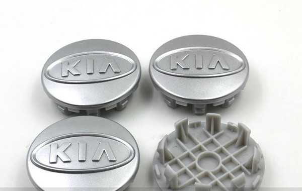 best selling 4pcs lot 59mm ABS silver chrome kia wheel center caps hub cover car badge emblem Cerato K2 K3 K5 For CEED OPTIMA SOUL SORENTO