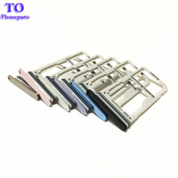 Original New single Dual Sim Card + Micro SD Tray Slot Holder For Samsung Galaxy S8 G950 S8 Plus G955 5Colors Replacement