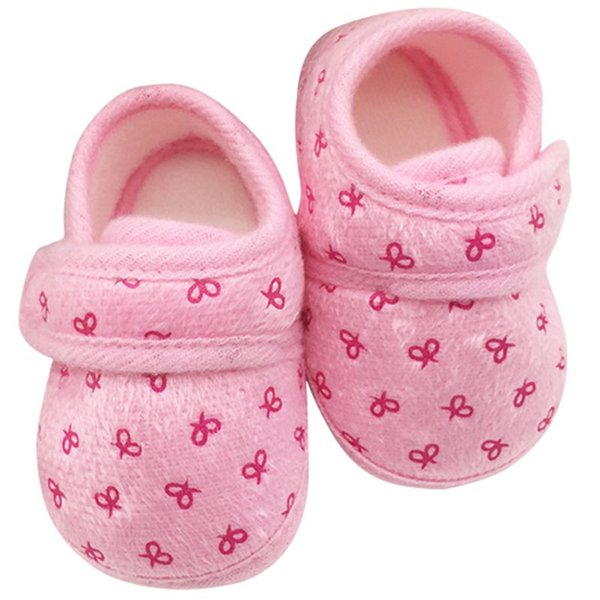 Baby Girl Shoes Cute Newborn Infants Kids Baby Shoes Cozy Cotton Soft Soled Crib Shoes Prewalker