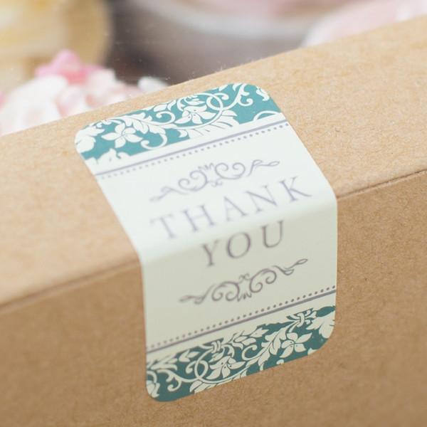 180pcs lot thank you sealing label sticker baking bag packaging cookie biscuits cake box sealing
