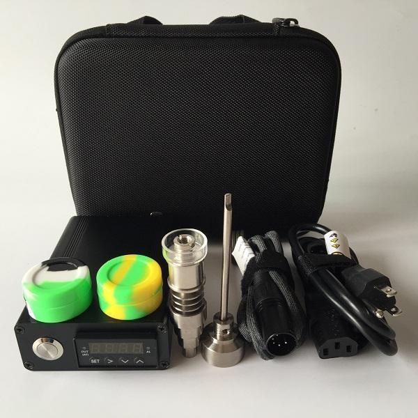 E Digital kit de Unhas de atualização de Titânio / Híbrido de quartzo unhas Fit flat 10mm / 16mm / 20mm Calefatores Coils para a cera seco Secado galss Herbal bongs