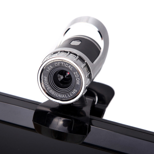Webcam USB 12 Megapixel 360 gradi USB 12 M HD Camera Web Cam Clip-on Videocamera Web digitale con microfono MIC per computer PC Laptop
