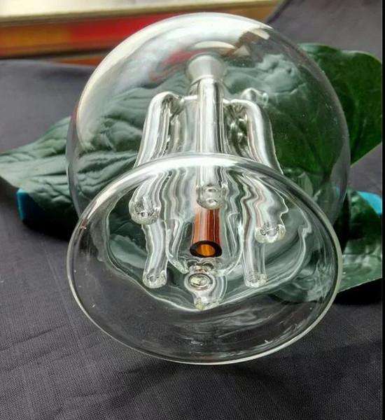 Jarro de seis garras clássico Roundness - tubo de fumar hookah de vidro Gongos de vidro - plataformas de óleo bongos de vidro cachimbo de água hookah de vidro - vaporizador vaporizador