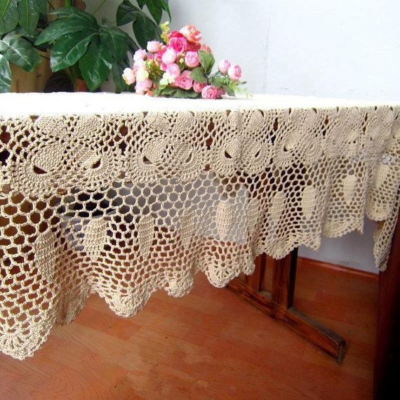 100% handmade table mat cover, Crochet pattern Bowknot table topper rectangular, crochet tablecloth home wedding ad029