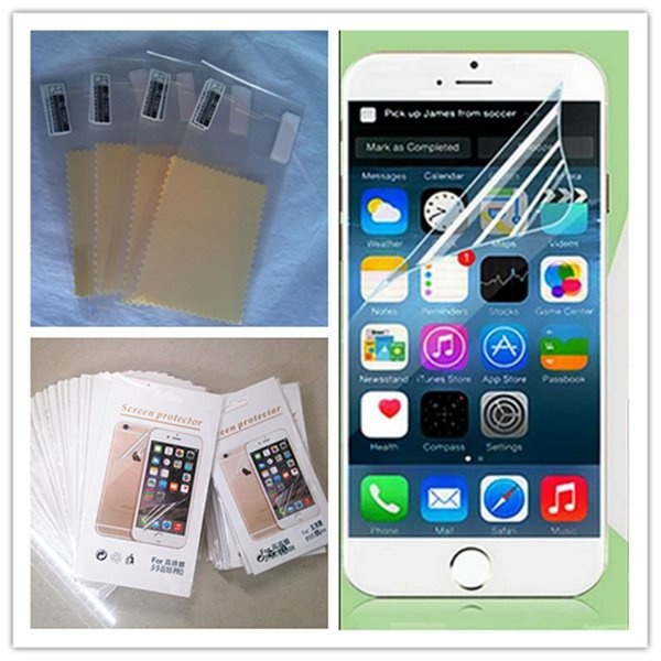 For Iphone 7 Clear Film Screen Protector Anti-shatter Guard Protectors Sticker Film With clean cloth Package For Iphone 6 6s 7 Plus 4s 5s SE