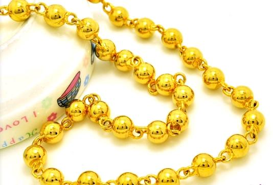 High Fashionable atmosphere gold bead necklace