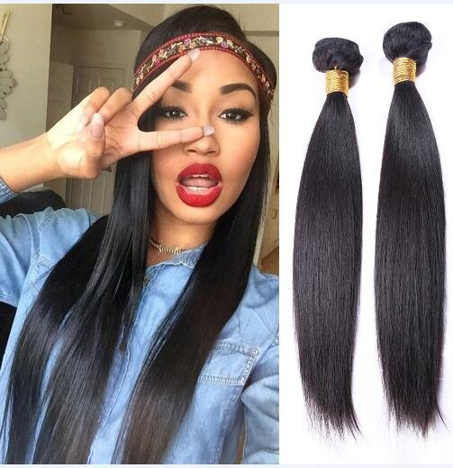 Indian Straight Hair Weaves 8A High Quality 100% Unprocessed Human Hair Extensions 8-30inch 5 Bundles Dyable Soft Free Shipping DHL