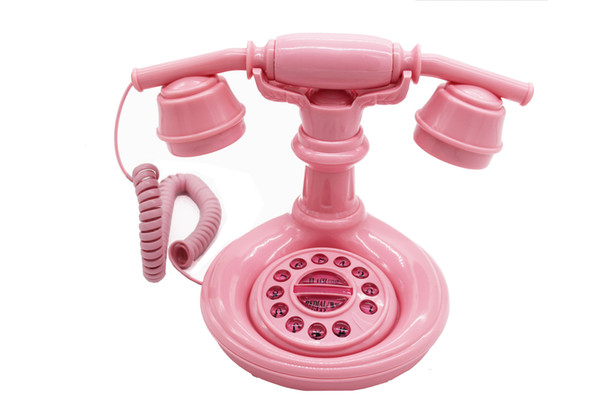 Old push-button type 15CM X 16CM X 22CM antique telephone appearance level is cute and cute machine ringing creative fashion