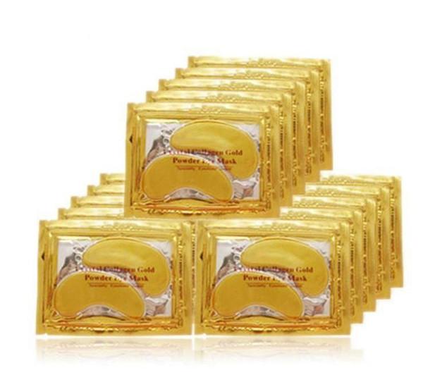 top popular PILATEN Collagen Crystal Eye Masks moisturizing Eye masks collagen gold powder eye mask DHL free shipping 2019