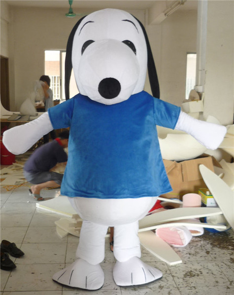 2016 EPE Negro y Azul Snoopy Dog Mascot Costume Halloween Chirastmas Party Fancy Dress Envío Gratis