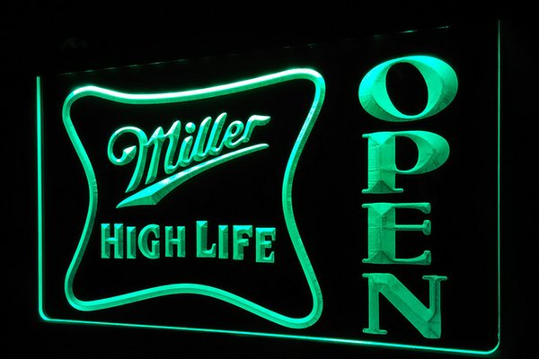 2018 ls439 g miller high life open bar neon light signg from ls439 g miller high life open bar neon light signg aloadofball Images