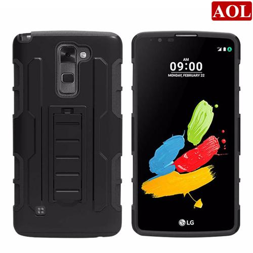 For LG Stylus 2 Plus G4 G3 G2 LS770 LS775 Future Armor Impact Hybrid Hard Case Cover+Belt Clip Holster Kickstand Combo Rugged Shockproof