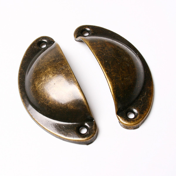 10pcs/lot Kitchen Cupboard Door Cabinet Cup Drawer Furniture Antique Shell Pull Handle Knob