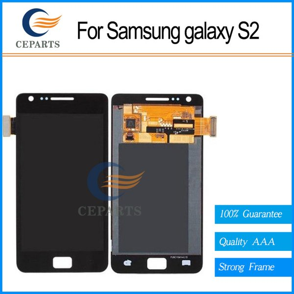 For Samsung Galaxy S2 i9100 lcd display touch screen with digitizer glass assembly + replacement Black fast shipping
