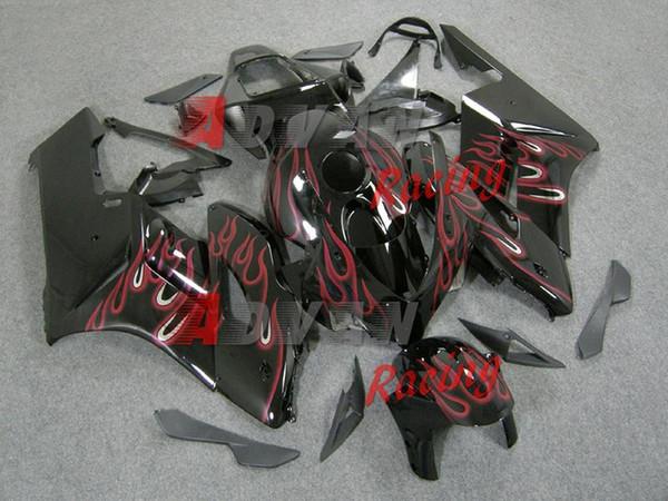 NUEVO 2014 Pink Flames INYECCIÓN Carenado Body Kit Fit Fit CBR1000RR 2004-2005 Z02.