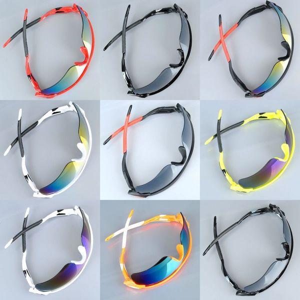 Clásicos espejo montar gafas de sol hombres y mujeres 009181 estallido modelos de gafas de sol sombras vasos 9 colores deslumbrar a los vidrios del color