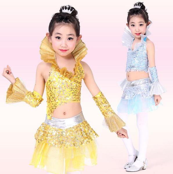 best selling 2016 latino Dress For Girls Lace Top&Skirt Dance Wear Vestido De Baile Practice Competition Dresses salsa dance costume baile