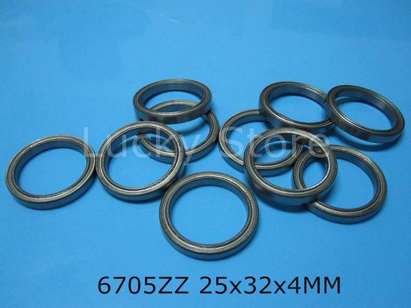 best selling 6705ZZ bearing free shipping 6705 6705ZZ 25 x 32 x 4 mm chrome steel deep groove bearing metal sealed Thin wall bearing