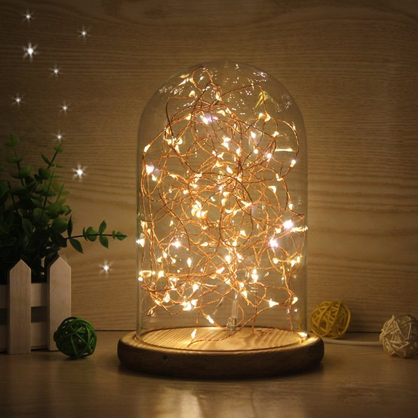 Glass shade wooden vintage table lamp desk light bedroom led night glass shade wooden vintage table lamp desk light bedroom led night light personalized creative birthday christmas aloadofball Image collections