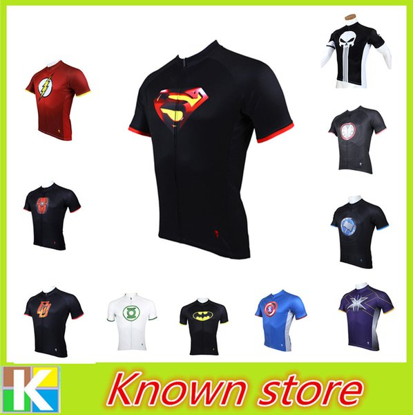 Men Superman Ironman Spiderman Captian America Cycling Jersey Shirt Riding  Gear Cool Male Novelty Cycling Clothing 0be1f7fda