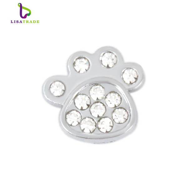 10PCS! 8MM Silver Rhinestone Slide Charms Fit for 8mm Wristband bracelet/ Belt/ Pet collar (10 styles can choose) LSSC81-173*10