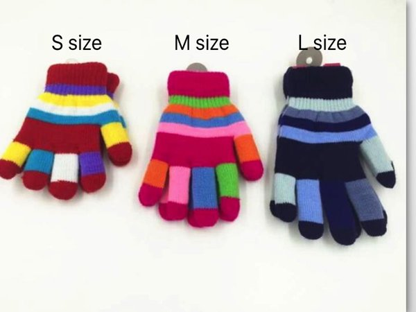 Winter Children Six Colors Double Thickening Gloves Students Baby Warm Cycling Gloves Five Fingers Gloves S M L Sizes From Kids To Adult
