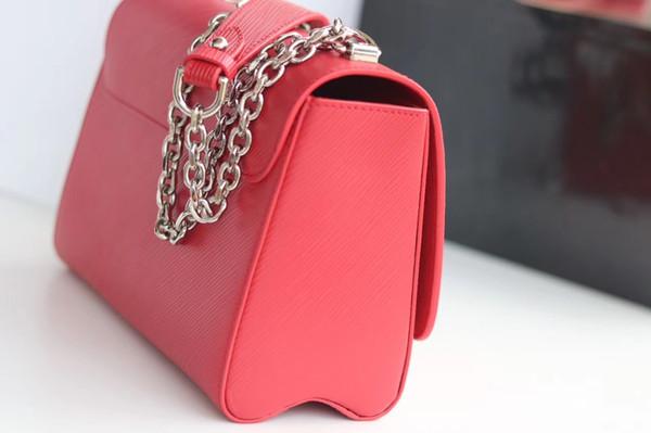2017 new fashion brand women's handbag high quality cross - quality cross - leather shoulder bag giant mouth bird print TWIST bag