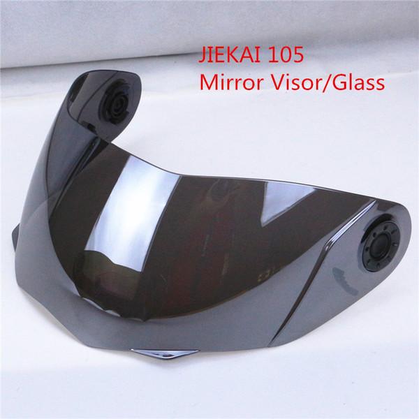 JIEKAI 105 Modular helmets Windshield glass helmet visor motorbike flip up motorcycle helmet lens clear silver rainbow