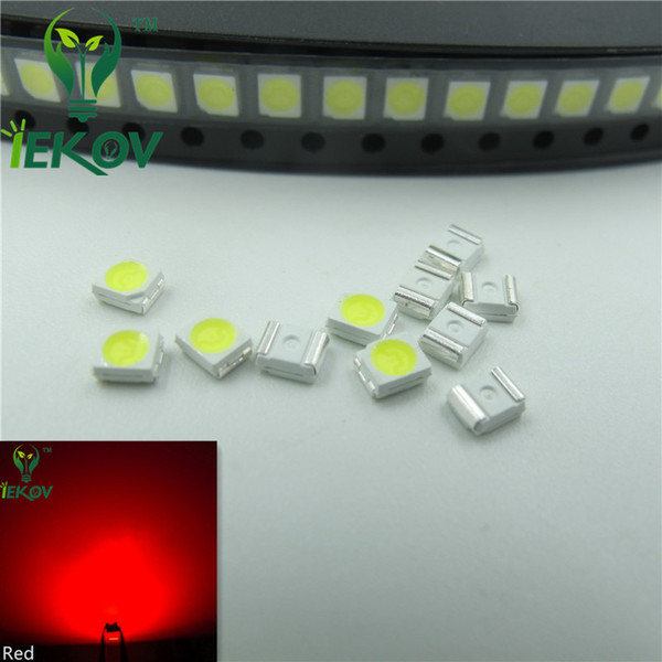 Hot SALE 1000pcs 2835 0.2W SMD Red LED Super Bright Light Diode High Quality SMT Chip lamp beads Suitable for bicycle DIY