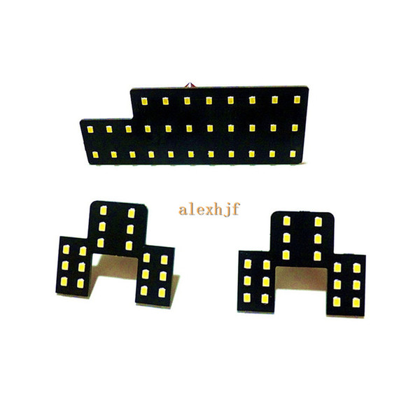 July King LED Car Interior Decorative Reading Lights Case for Suzuki SX4, 2835 LED Chips SMD, 6000K White, High Brightness, 3pcs