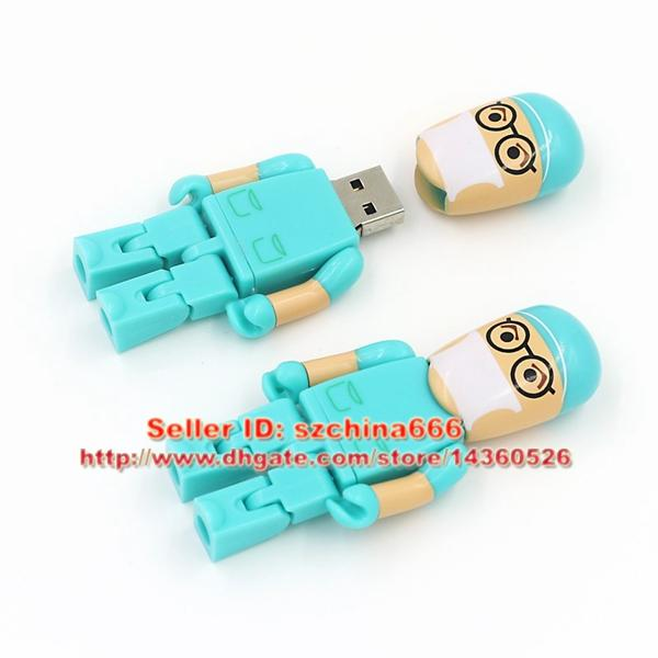 Green Doctor model USB 2.0 Flash Memory Pen Drive Stick 4GB 8GB 16GB 2GB 1GB dentist USB Flash Drives