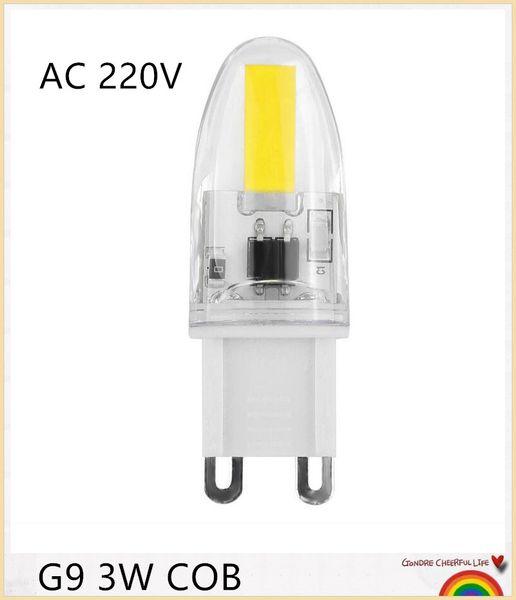 YON Dimmable G9 COB LED Crystal Light G9 3W COB LED Light Bulb 1505 Lamp Cool White Warm White AC 220V