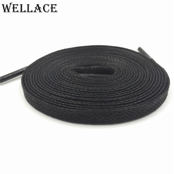 Wellace Unisex 100% Cotton Waxed Shoe Laces waterproof shoelaces for Casual shoes boots Flat wax widen Shoelaces 150cm/59''