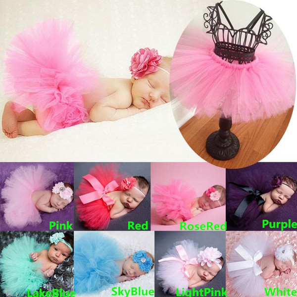 best selling Best Match Newborn Toddler Baby Girl's Tutu Skirt Skorts Dress + Headband Outfit Fancy Costume Yarn Cute 8 Colors Free Shipping