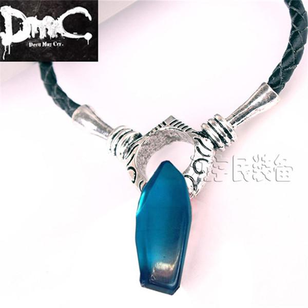 Al por mayor-Devil May Cry 5 Dante y Vergil collar para mujer y hombre Artificial Crystal colgante juego DMC 5 cosplay accesorios collares