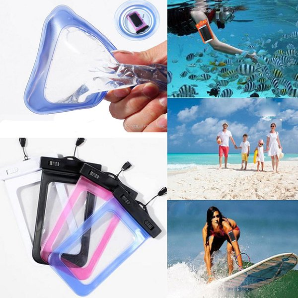 Universal for iphone 7 6 6s plus samsung note 7 S7 Waterproof Case bag Cell Phone Water proof Dry Bag for smartphone up to 5.8 inch diagonal