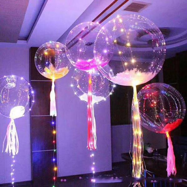 Yeni Renkli LED ışık Helyum balonlar Çok renkli parti süslemeleri