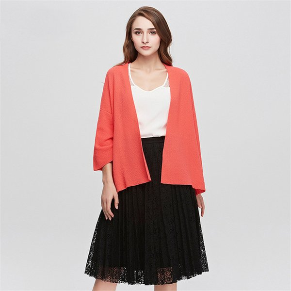 Spring Autumn New Solid Color Women's Cardigans Batwing Sleeve Knitted Sweater for Women Casual Open Stitch Female Cardigan