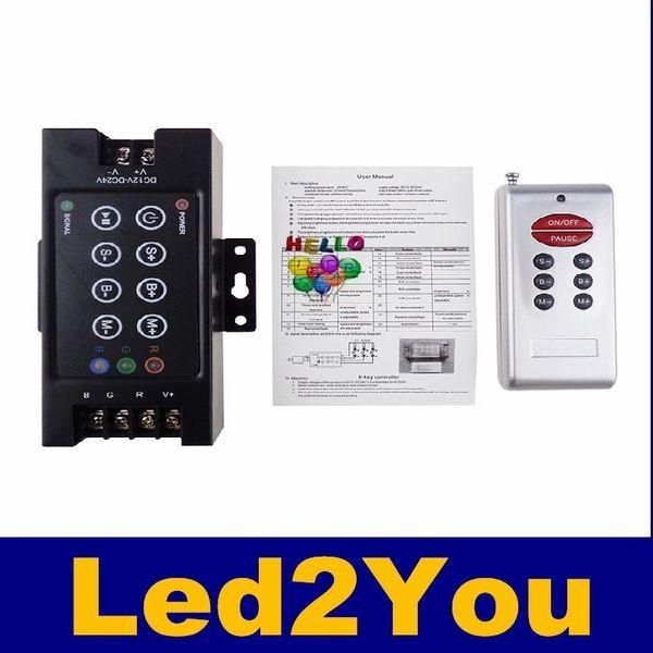 Control remoto rgb 8Key DC 12V ~ 24V 30A 360W-720W Control remoto RF Tira de LED para SMD RGB LED Strip Módulos Led