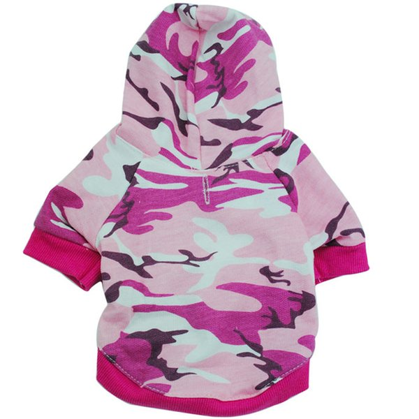 New Arrival Fashion camouflage Pet Sweater Puppy T Shirt Dog Cat Warm Hoodies Coat Clothes Apparelfor Sale Fast Free Shipping