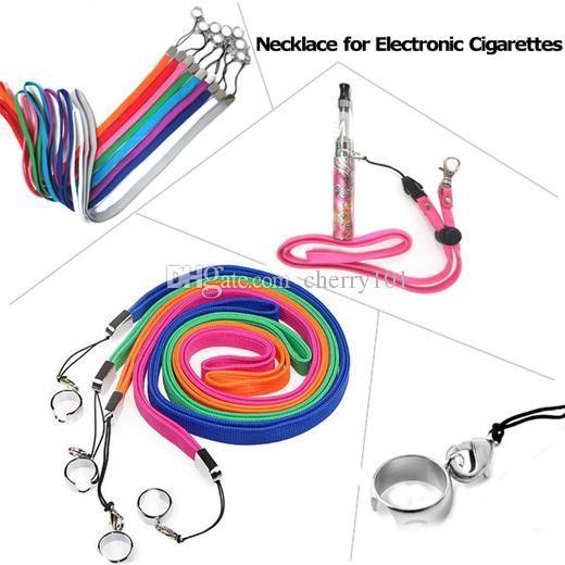 50pcs/lot Ego Necklace ego lanyard ring e cig lanyards carry bag string for ego-t ego-CE4 ego CE4 e cigarette necklace, e cig lanyard