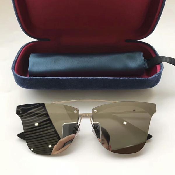 Diseñador de la marca de gafas de sol G0282S gafas de sol para mujer para mujer gafas de sol mujer marca diseñador de protección UV gafas de sol de los hombres de verano