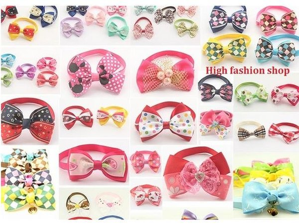 200pc/lot 2016 Hot Sale butterfly pet cat puppy dog bow tie Grooming Bowknot Pet Accessories PE17