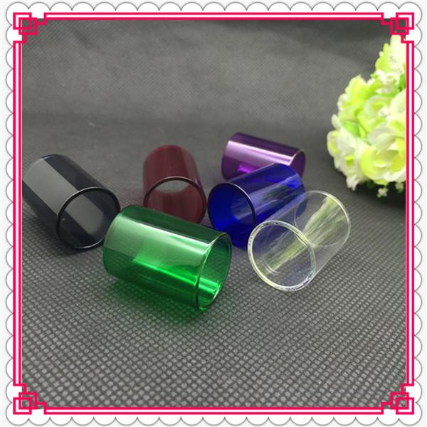 Replacement pyrex colorful glass tube for kanger subtank atomizer subtank mini glass tube subtank nano for eGO-T sub ohm tank glass TUBE
