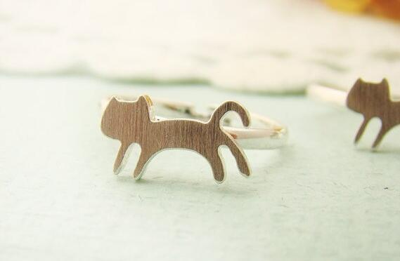 Fashion new style 18k gold plated ring Animal ring Charming cat rings for women wholesale and mixed color free shipping