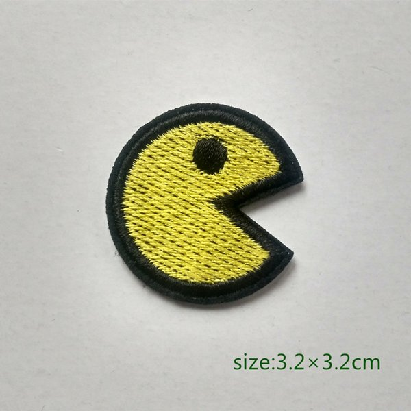 Pac man Game Motif Iron On HOTFIX Patch Applique Bordado Cartoon Shirt Kids Toy Gift baby Decora Individualidad