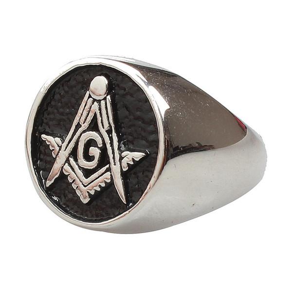 Size 7-15 Stainless Steel Masonic Ring Mason Master Army Freemasonry Retro Vintage Antique Signet Rings For Men