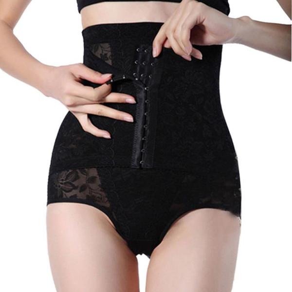 Wholesale-SIF 2016 Zayıflama Iç Çamaşırı Karın Yüksek Bel Cincher Kalça Vücut Korse Kontrol Pantolon Şekillendirici Kısa FEB 14